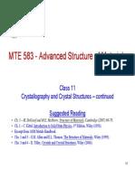 MTE 583_Class_11