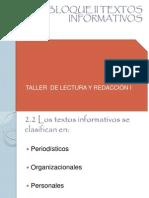 Bloque II Textos Informativos