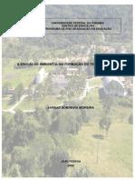 A EDUCAÇÃO AMBIENTAL NA FORMAÇÃO DO TÉCNICO AGRÍCOLA - Dissertação Mestrado Jarbas Sobreira Moreira
