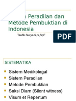 Sistem Peradilan Dan Metode Pembuktian Di Indonesia