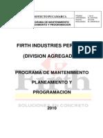 Plan de Mantenimiento Proyecto Pucamarca