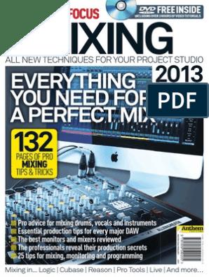 Music Tech Focus - Mixing 2013 pdf   Drum Kit   Equalization