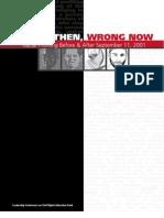 Racial Profiling Report Wrong Doing