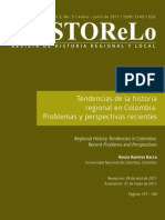 Tendencias de La Hria Regional en Colombia