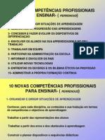 10 NOVAS COMPETÊNCIAS PROFISSIONAIS PARA ENSINAR- PERRENOUD