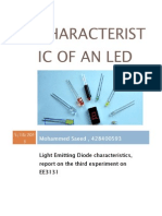 Characteristic of an LED