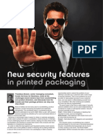 New Security Features in Printed Packaging