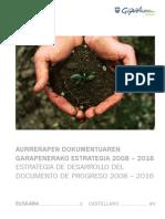 Aurrerapen Dokumentuaren Garapenerako Estrategia 2008-2016