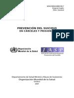 prevención suicidio en cárceles