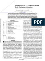 Conservative Formulation of the k-ϵ Turbulence Model for shock-turbulence interation