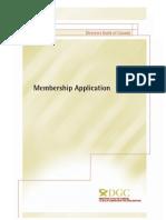 Membership App Feb 2013