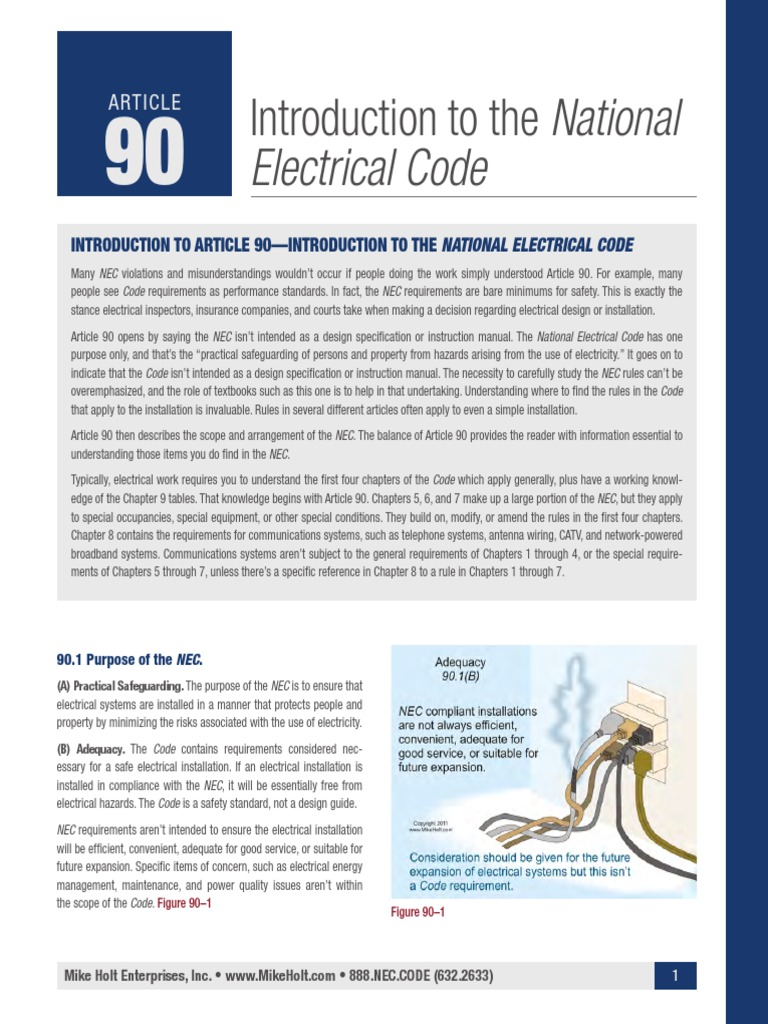 Introduction to the National Electrical Code | Electrical Wiring ...