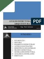 ANÁLIS ESTRUTURAL NA ARQUITETURA