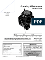 Briggs & Stratton Operating and Maintenance Instruction Manual