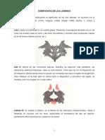 Significado de las láminas test de Rorschach