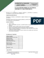 Práctica 1. Mediciones e Incertidumbre en material volumétrico y gravimétrico.