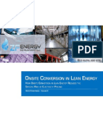 Onsite Conversion - How Onsite Conversion in Lean Energy Reduces the Specific Risk of Electricity Pricing, by Michael Overturf, CEO, ZF Energy DevelopmentWhite Paper Series - Volume II