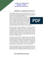 Politica Criminal y Legislacion Penal