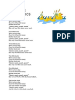 Five Little Ducks Lyrics