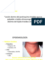 Carcinoma de Tiroides I