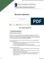 Reactores Químicos - Apuntes de Ingeniería Química
