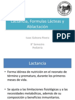 Lactancia, Formulas Lácteas y Ablactación 2