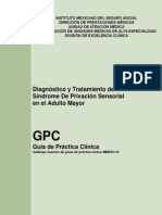 Dx. Tratamiento Del Sindrome Sensorial en Adulto Mayor