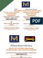 Milford Miami Ministry Chicken Dinner