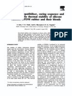 Effect of Compatibiliser, Curing Sequence and Ageing on the Thermal Stability of Silicone Rubber, EPDM Rubber and Their Blends