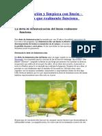 Desintoxicación y limpieza con limón