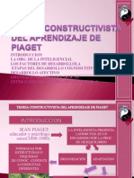 Teoria Constructivista Del Aprendizaje de Piaget