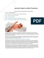 Four Simple Ergonomic Steps to a More Productive Workplace