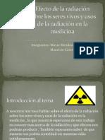 Efecto de la radiación sobre los seres vivos