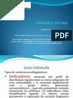 VARIÁVEIS SOCIAIS