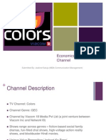 Economics of a TV Channel:Colors