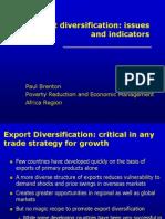 Brenton Export Diversification Indicators