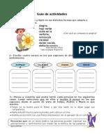 5° Año - Guía de actividades poema
