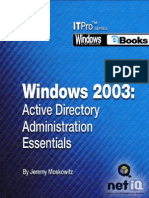 Windows 2003 Active Directory Administration Essentials 7