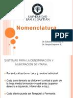 Nomenclatura (Dr. Inostroza)
