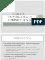 Toxicidad hematológica de antiinfecciosos