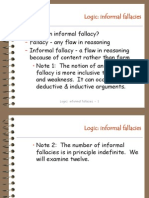 Logic Informal Fallacies