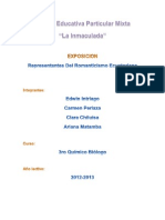 Representantes Del Romanticismo Ecuatoriano