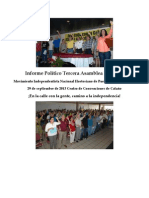 MINH - Informe Político Tercera Asamblea Nacional