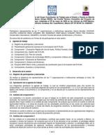 Minuta y Agenda de Trabajo 29 de Mayo 2009