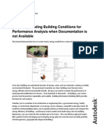 Gathering Existing Building Conditions for Performance Analysis