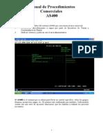 Manual de Procedimientos Comerciales (AS400)