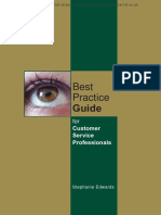 Best Practice Guide for Customer Service Professionals - Sample
