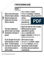 6-traits of writing self-scoring guide by john kalkowski | tpt.