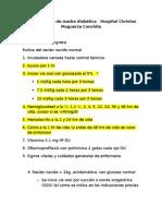 Protocolo hijo de madre diabética   Hospital Christus Muguerza Conchita