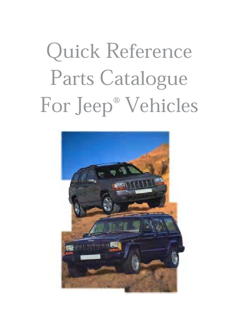 Jeep Parts Catalog - 20 Years Complete (XJ, YJ, ZJ, CJ & J/SJ) | Brake |  Motor Vehicle
